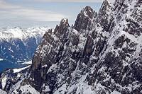 Aerial photograph, Lienz Dolomites, Eastern Tyrol, Austria, Europe