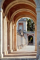 Arches on the West front, Royal Palace, Aranjuez, Madrid province, Spain