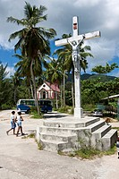 Church at Anse Boileau, Mahe Island, Seychelles, Indian Ocean, Africa