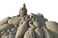 legend of King Midas, sand sculptures at the sand city festival at Lara Beach, Turkey, Tuerkische Riviera, Lara Beach, Antalya
