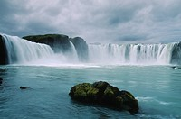 waterfall Godafoss, Iceland