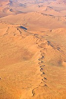 Sand dunes in the Namib Desert, aerial picture, Namibia, Africa