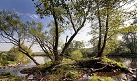 Ruhr river scenery, Germany, North Rhine_Westphalia, Ruhr Area, Wetter/Ruhr