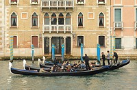 Gondolas on Canal Grande, Venice, Italy, Europe