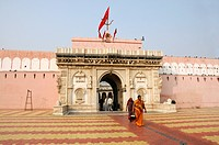 Karni Mata Temple near Bikaner, Rajasthan, north India, Asia