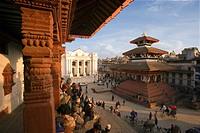 Buildings at Durbar Square in Katmandu City, Nepal, Asia