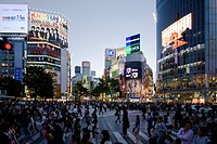 Evening mood in a shopping street in the Shibuya District, Tokyo City, Japan, Asia