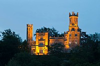 Schloss Eckberg Castle at dusk, Dresden, Saxony, Germany