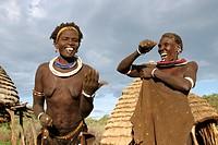 dancing Toposa women, Sudan