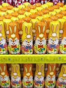 Easter bunnies from chocolate