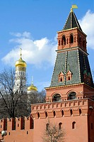 Kremlin tower, wall, Moscow, Russia
