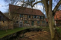 Old Franconian farm house, Tauchersreuth, Middle Franconia, Bavaria, Germany, Europe
