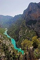 outlook into the Verdon_Gorge, France, Provence