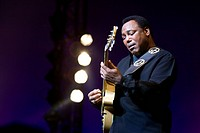 US jazz guitarist and singer George Benson, live at the Blue Balls Festival in the concert hall of the KKL Lucerne, Switzerland