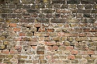 Old weathered brick wall, filling the picture