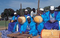 traditional band playing at the Roots _Festival, Gambia, Banjul