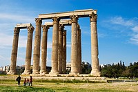 Temple of Olympian Zeus in Athens Greece Europe