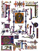 Gothic miniature painting, Middle Ages, medieval ornament in France, Guillot, Ornamentation des manuscripts au moyen-age