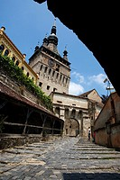 Unesco World Heritage  Clock tower  Sighisoara  Transylvania  Romania