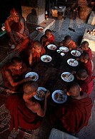 Buddhist Monks at Breakfast