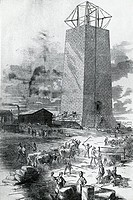 Building The National Monument To Washington, 1852, Artist Unknown