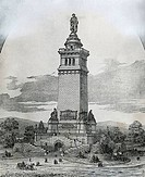 Proposal For Washington Monument, 19th Century, Artist Unknown
