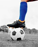 Soccer boot on ball