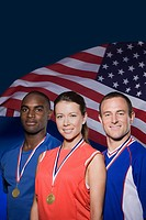 Three american athletes