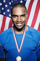 Portrait of an american athlete