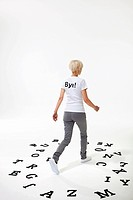 Woman in t_shirt that says bye