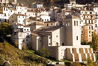 Jucar river gorge and church of San Miguel, Cuenca. Castilla-La Mancha, Spain