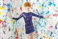 Young woman in sequin dress (thumbnail)