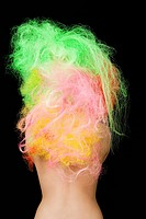 Woman with neon hair