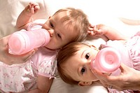 Baby twins, 10 months