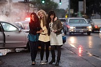 Young women after road accident (thumbnail)