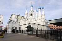Church of the Nativity of Our Lady in Putinki, built during 1642 _ 1652, Moscow, Russia, Europe