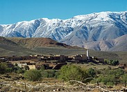 High Atlas near Tizi N´Tichka Pass between Ouarzazate and Marrakesh