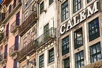Typical facades at Ribeira Quay, Porto, UNESCO World Cultural Heritage Site, Portugal, Europe