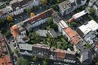 Block of flats, in the inner city of Muenster, North Rhine-Westphalia, Germany, Europe