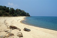 beach at Lake Tanganyika, Tanzania, Gombe Stream National Park