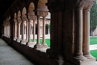 Romanesque cloister of St  Peter's collegiate church, Soria  Castilla-Le&#243;n, Spain