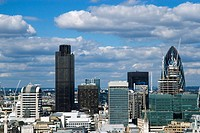 Panorama of the City of London including the river Thames
