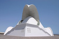 Europe, Spain, Canary Islands, Tenerife, Santa Cruz de Tenerife, Auditorio de Tenerife, architecture, white,
