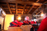 Apres ski Wintersport in the mountains of the Austrian Alps, Tyrol, Tirol, Austria
