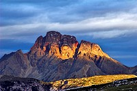 Mount Croda Rossa at sunrise, Italy