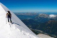 Climb up Mont-Blanc of Tacul  French Alps