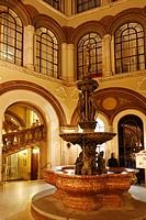 Donaunixenbrunnen, fountain, in Palais Ferstel, Palais Ferstel, Vienna, Austria, Europe