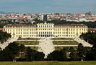 Schoenbrunn Castle and park, view of Vienna, Austria, Europe