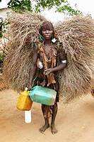 ethiopia, omo valley, dimaka, hamer market