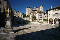 Feltre  Italy  Piazza Maggiore &amp; the remains of the medieval castle